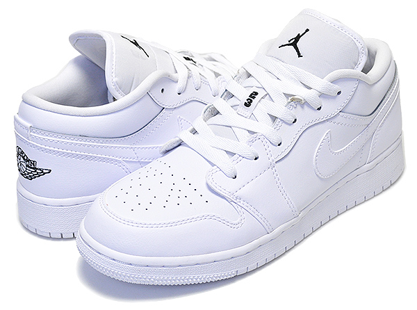 Nike NIKE Air Jordan 1 LOW Lady's sneakers AIR JORDAN 1 BG 553,560 101 shoes white white