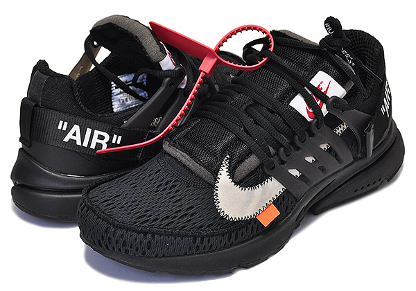 Off White x Nike Presto BlackWhite Cone AA3830 002