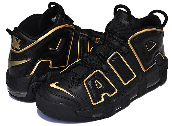 release date buy online amazing selection Among published by advantageous discount coupon! NIKE AIR MORE UPTEMPO 96  FRANCE QS black/metallic gold