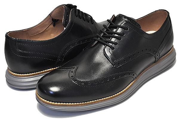 お得な割引クーポン発行中!!【コールハーン ビジネスシューズ】COLE HAAN ORIGINAL GRAND SHWNG black/ironstone【メンズ 靴 走れる ビジネスシューズ カジュアル ドレスシューズ ブラウン ウイングチップ 革靴】