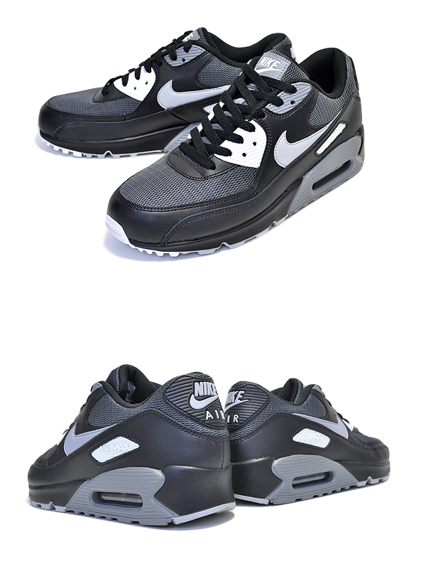 Inexpensive Nike Air Max 90 Essential Mens Black Wolf Gray