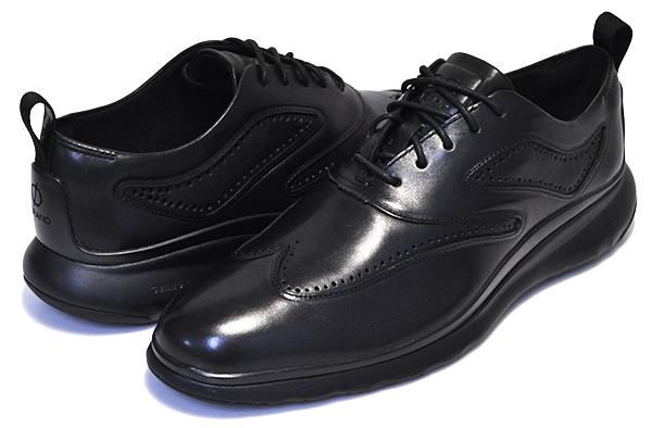 お得な割引クーポン発行中!!【コールハーン 3ゼログランド ウィング オックスフォード】COLE HAAN 3ZEROGRAND WING OX BLACK LTR/TPU/BLK【革靴 軽量 走れる ビジネスシューズ カジュアル】