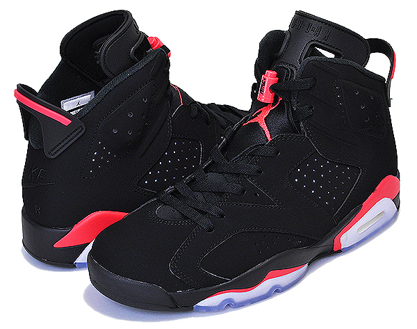 buy online a78e4 98393 Among published by advantageous discount coupon! NIKE AIR JORDAN 6 RETRO  black/infrared 384,664-060 sneakers AJ infrastructure red black BRED