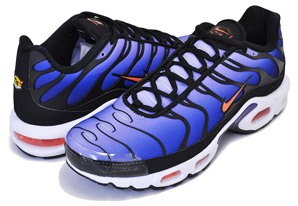 nike air max plus blue black orange