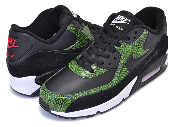 Among published by advantageous discount coupon! NIKE AIR MAX 90 QS PYTHON blackblack cyber fir cd0916 001 sneakers snake pattern snake green
