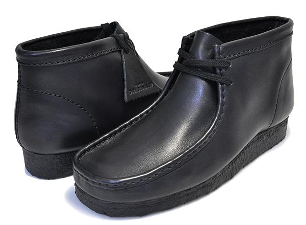 お得な割引クーポン発行中!!【クラークス ワラビー レザー ブーツ】CLARKS WALLABEE BOOT BLACK LEATHER 26103666 ブラック ワラビー ブーツ