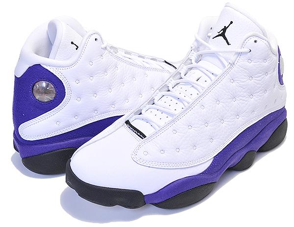 お得な割引クーポン発行中!!【ナイキ エアジョーダン 13】NIKE AIR JORDAN 13 RETRO LAKERS white/black-court purple 414571-105 AJXIII LA レイカーズ