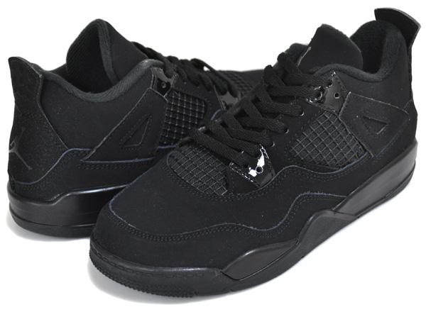 お得な割引クーポン発行中!!【ナイキ ジョーダン 4 プレスクルール】NIKE JORDAN 4 RETRO (PS) BLACK CAT black/black-lt graphite bq7669-010 スニーカー AJ IV キッズ 子供靴