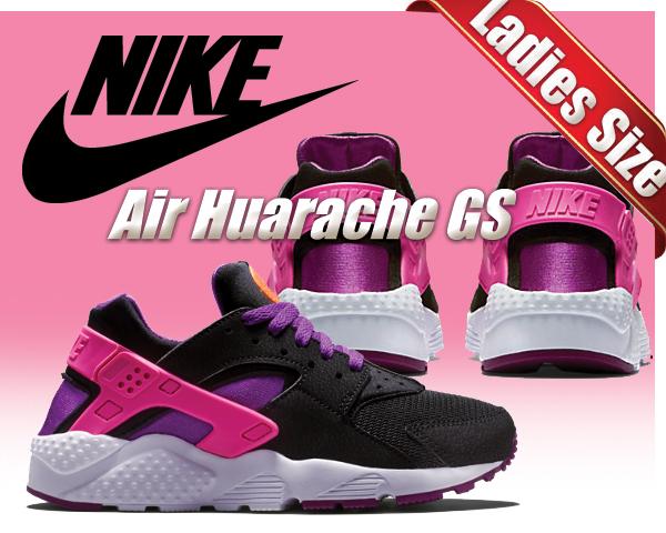 619420de52571 ltd-sports  NIKE AIR HUARACHE RUN GS blk pnk pw-ttl org-bld brry ...