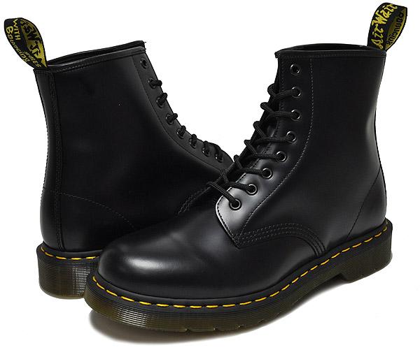 お得な割引クーポン発行中!!ドクターマーチン 8ホール ブーツ メンズ レースアップブーツ Dr.Martens 1460 8HOLE BOOT SMOOTH BLACK R11822006 BOOTS