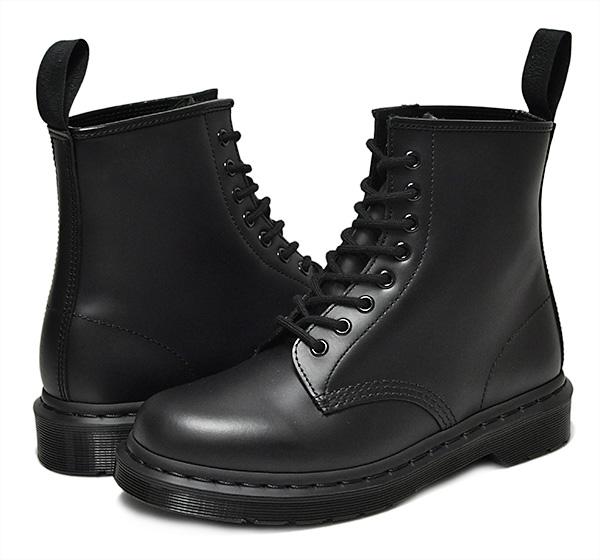 お得な割引クーポン発行中!!【ドクターマーチン 8ホール ブーツ】Dr.Martens1460 MONO 8HOLE BOOT SMOOTH BLACK メンズ ブーツ モノブラック ワーク レースアップ 14353001