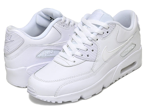 Among published by advantageous discount coupon! NIKE AIR MAX 90 LTR GS whitewhite Kie Ney AMAX 90 Lady's size white women 833,412 100
