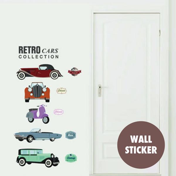 シールタイプの簡単ウォールステッカー 手軽に模様替え ウォールステッカー クラシックカー 車 自動車 オールド アンティーク ベスパ バイク シール オシャレ 壁紙 窓 おしゃれ 大人気 飾り 中古 トイレ 映え インスタ 北欧 英字