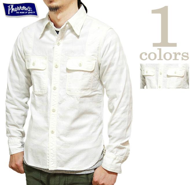 【 Pherrow's(フェローズ) 】 オリジナルシャンブレーワークシャツ 再入荷! [ 770WS ] [ 長袖シャツ ] [ アメカジ ] [ メンズ ] [ 送料・代引き手数料無料 ]