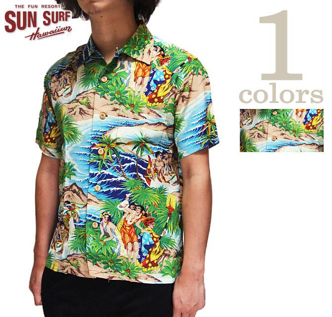 【 SUN SURF SPECIAL EDITION(サンサーフスペシャルエディション) 】 SS37862 半袖アロハシャツ  [ Festival ] 【 PALI HAWAIIAN STYLE 】 [ アメカジ ] [ メンズ ] [ 送料・代引き手数料無料 ]