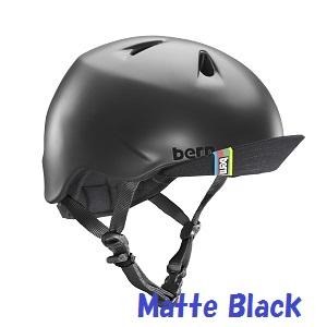 デザイン性 安全性も兼ね備えているキッズモデル BERN バーン 国内正規品 キッズ ヘルメット NINO ニーノ ニノ 子供用 限定特価 MATTE マットブラック 自転車 Kids VJBMBKV VISOR スケートボード BLACK ストライダー 男の子モデル アイテム勢ぞろい