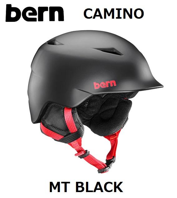 【18-19 WINTER】 【国内正規品】 bern KIDS バーン キッズ 子供用 ヘルメット CAMINO MT BLACK CRANK FIT カミーノ マットブラック スノーボード 自転車 スケートボード ジュニア UNISEX SB02ZMBLK スノボ WINTER 2018-2019 冬用