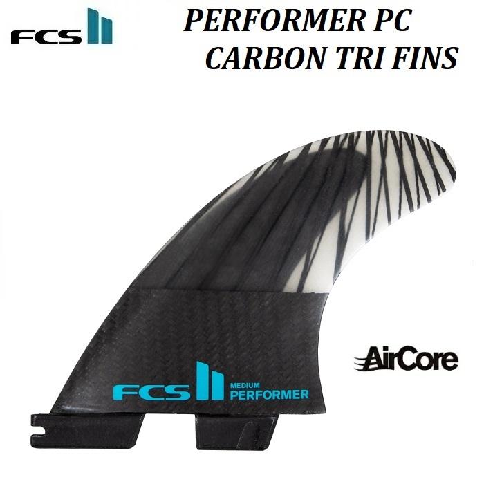 【国内正規品・送料無料 ・ステッカープレゼント!】 FCS II FIN Performer PC Carbon Tri Set AIR CORE SMALL SMALL MEDIUM LARGE S M L 黒 TEAL ブラック エフシーエス 2 ツー パフォーマー ピーシー カーボン トライ フィン スラスター FCS2 サーフィン エアコア