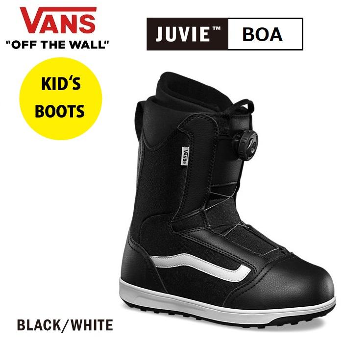 【 VANS/バンズ】【 早期割引/送料無料 】 【 日本正規品 】18-19 SNOWBOARD BOOTS Vans Boys Juvie Boa Vans Black/White スノーボード ブーツ 靴 男の子 女の子 ボーイズ ジュビー ボア ブラック 黒 KIDS 子供 キッズ ジュニア ヴァンズ 18/19 2018 2019 VN0A3TFNY28
