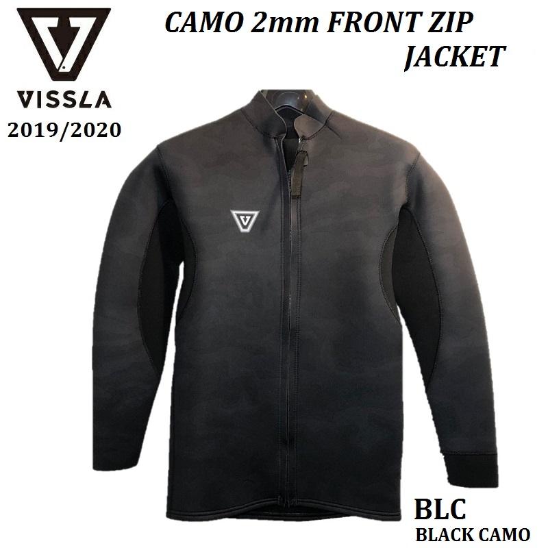 【 日本正規品 】【 メンズ 】2019 VISSLA WETSUITS Wetsuits Camo 2mm × 2mm FRONT ZIP JACKET BLC BLACK CAMO / セブンシーズ 2/2 フロントジップ ジャケット タッパー ヴィスラ ビスラ ウェットスーツ 大人 男性 MENS 既成品 海外製 つるし オススメ MW02KCAM 19SP