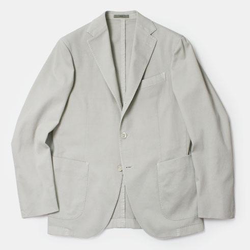 【国内正規品】【均一SALE】【30000】春夏 BOGLIOLI COAT ( コート モデル ) / コットン ストレッチ 製品洗い 3釦段返り2パッチ シングルジャケット【オフホワイト】【送料無料】