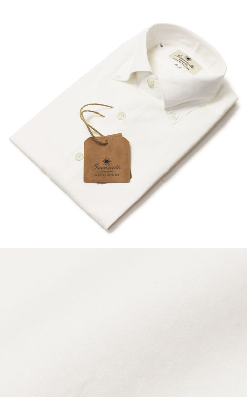 【国内正規品】【SALE 30】新作 GIANNETTO ( ジャンネット ) / コットン テンセル ボタンダウン シャツ【ホワイト】【送料無料】