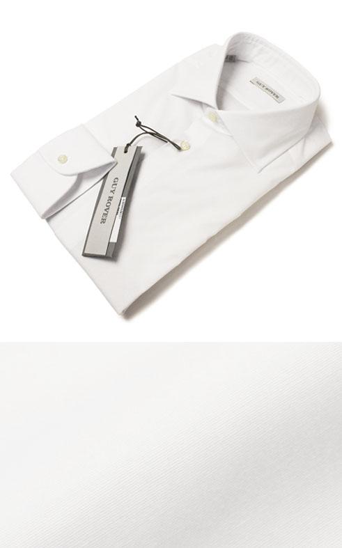 F/W 新作 GUY ROVER ( ギローバー ) / V2530/582250 / コットン ストレッチ ブロード セミワイド ドレス シャツ【ホワイト】【送料無料】