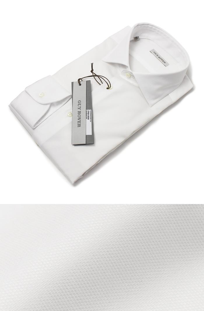 ギローバー / GUY ROVER / ドレス シャツ / セミワイド コットン オックス / V2530/592920【ホワイト】【SALE30】