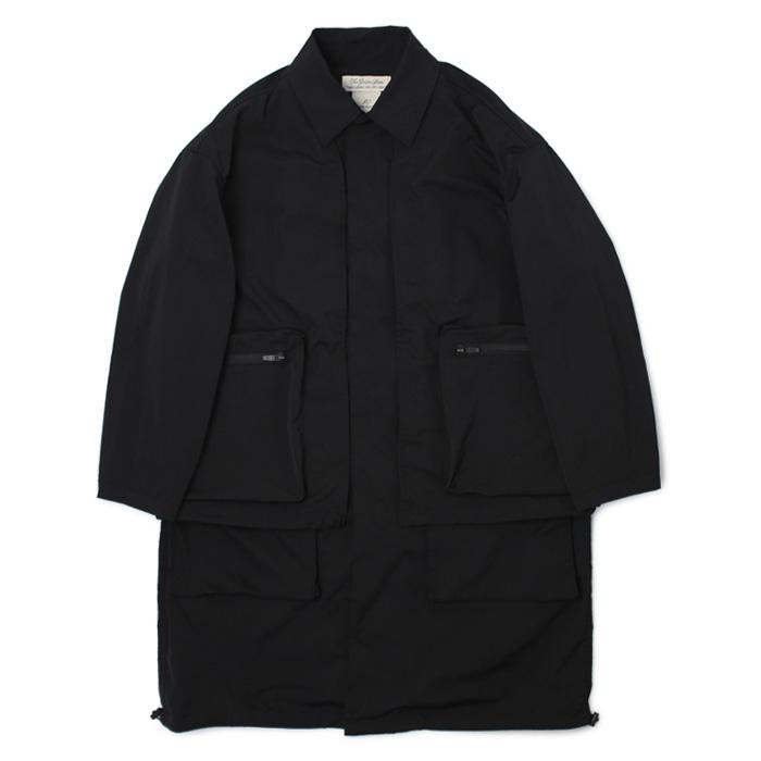 レミレリーフ / REMI RELIEF / ポリエステル ツイード グランジ コート【ブラック】【SALE20】