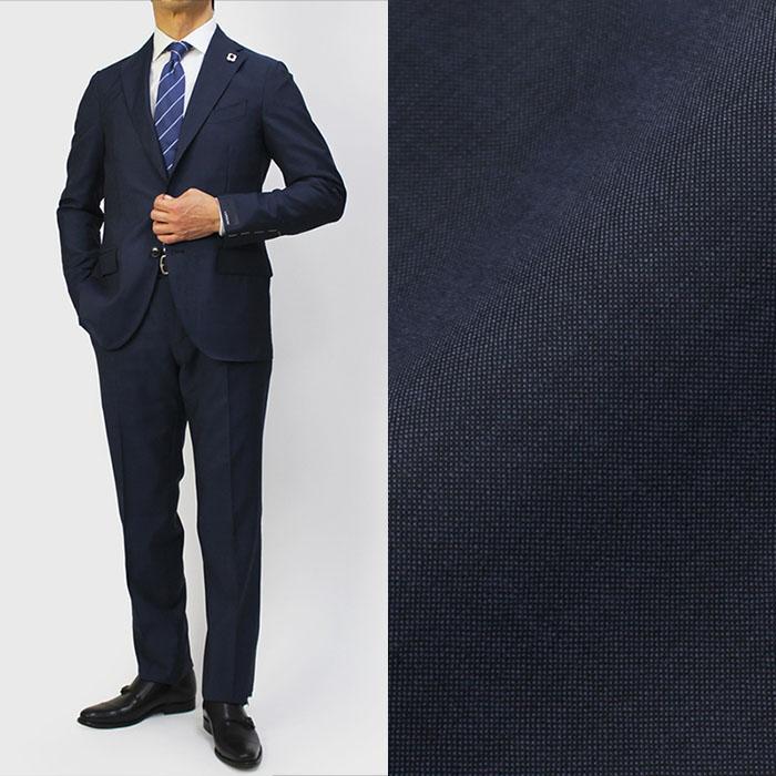 ラルディーニ / LARDINI / ワンプリーツ スーツ / ウール ソラーロ / JR0866AQ-RP65599【ネイビー】