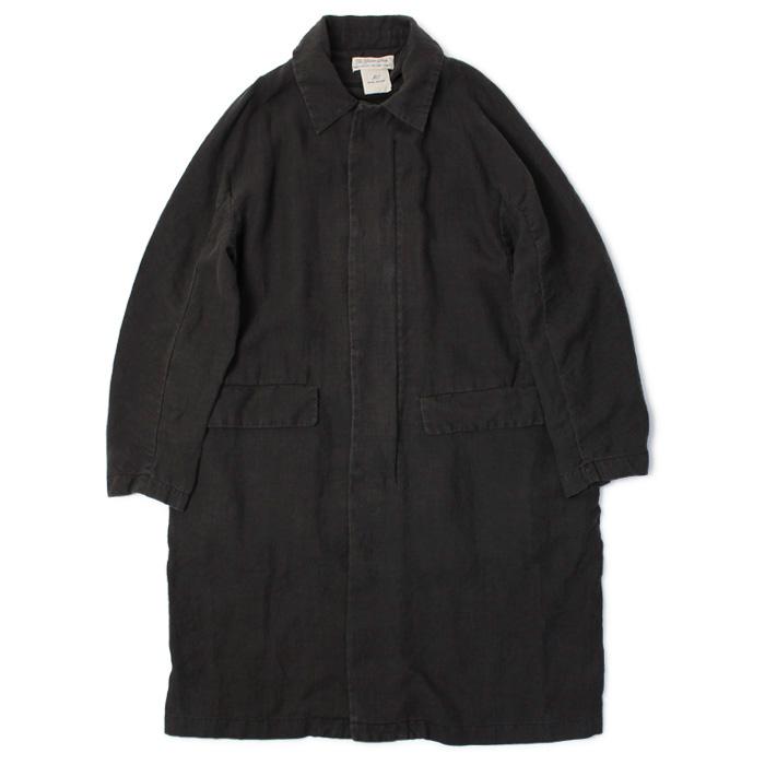レミレリーフ / REMI RELIEF / リネン 100% ステンカラー コート【ブラック】【SALE 30】