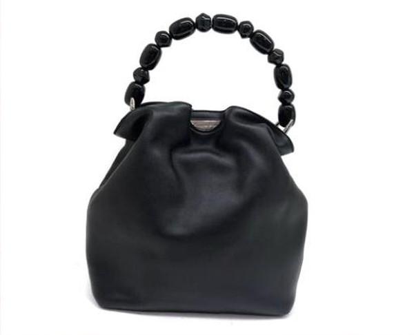 Dior クリスチャンディオール マリスパール レザー ハンドバッグ ブラック【中古】【あす楽対応】