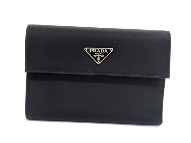 PRADA プラダ ナイロン 3つ折り財布 ブラック 三角ロゴ M510【中古】【あす楽対応】
