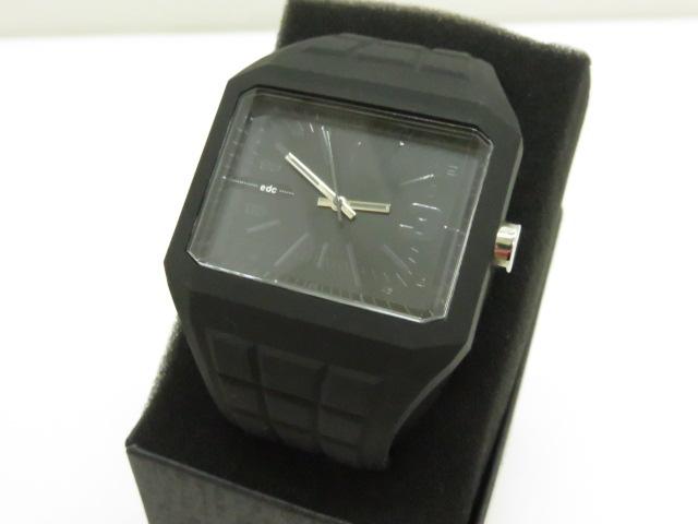 edc 腕時計 EE100571001 ラバーバンド クォーツ 電池切れ 〇YR-07834-2〇