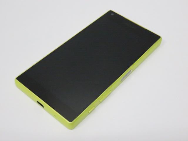 【中古品】 ソニー 4.6型液晶 スマートフォン エクスペリア Z5 コンパクト SO-02H イエロー ドコモ ○YR-08476○