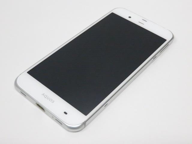 至上 中古品 シャープ 5.3型液晶 新作送料無料 スマートフォン アクオス SHV34 セリエ au ホワイト ○YR-08481○