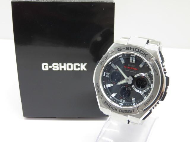【中古】 カシオ CASIO Gショック G-SHOCK G-STEEL GST-W110D-1AJF ブラック 〇YR-04362〇