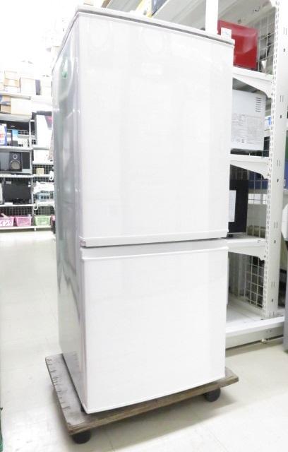 シャープ 冷蔵庫 SJ-D14C-W 137L 2017年製 ホワイト ○YR-10358○