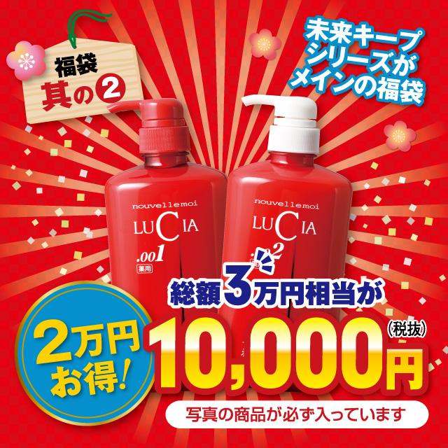 圣卢西亚袋 2016年 (30000 日元相当) 一套! 给出了必须输入光泽和 Kgosi 袋药的头发未来保持洗发水和护发素 (你胶囊瓶)