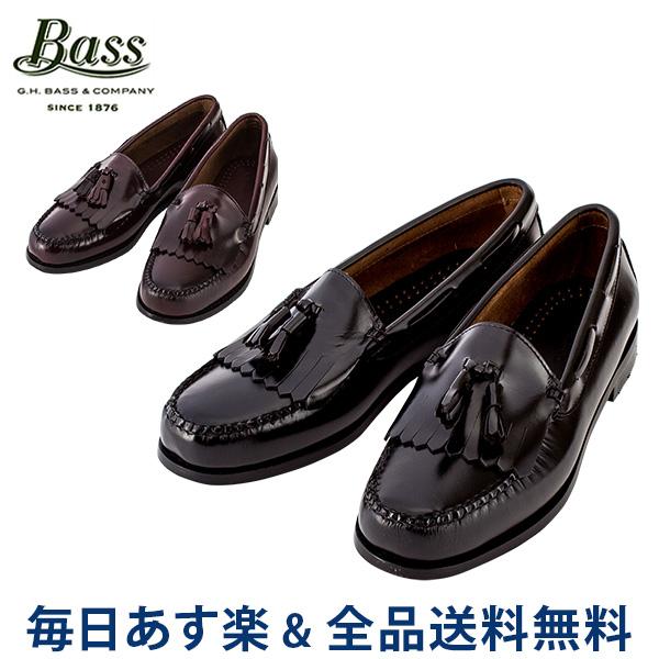 【2点300円OFFクーポン 4/15まで】 [全品送料無料] G.H.BASS G.H.バス LAYTON レイトン ブラック/バーガンティ ローファー 革靴