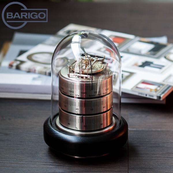 【2点300円OFFクーポン 4/15まで】 [全品送料無料] Barigo バリゴ Country Home カントリーホーム Baro-Thermo-Hygrometer 温湿気圧計 (シルバー) SilverBlack シルバーブラック 3026.2 インドア ヘルスケアインテリア