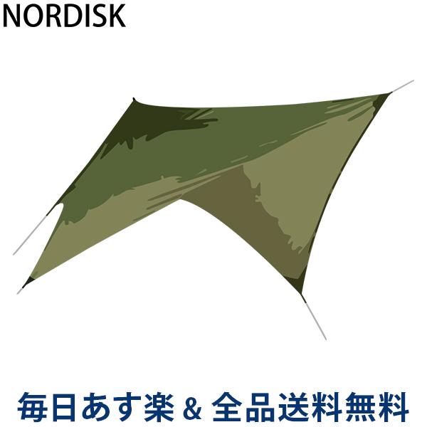 [全品送料無料]ノルディスク NORDISK タープ ヴォス ダイヤモンド PU 127009 ダスティーグリーン Voss Diamond Dusty Green incl. guy-ropes キャンプ テント 雨よけ 日よけ