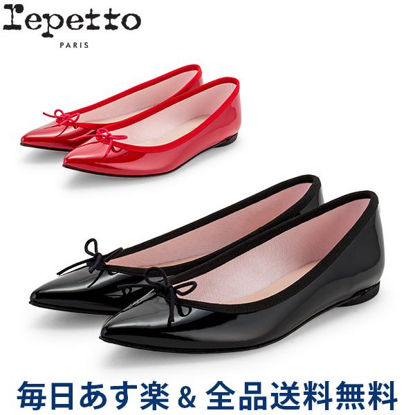 [全品送料無料]【コンビニ受取可】 レペット Repetto バレエシューズ ブリジット エナメル V1556V BRIGITTE フラットシューズ レディース 革靴 レザー かわいい ポインテッドトゥ COTILLON