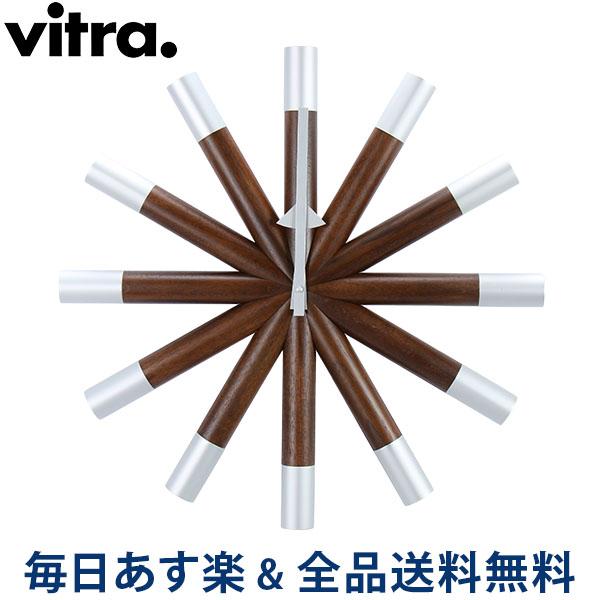【2点300円OFFクーポン 4/15まで】 [全品送料無料] Vitra ヴィトラ Wall Clocks ウォール クロック 壁掛け 時計 Wheel Clock Walnut ウォールナット 201 619 01