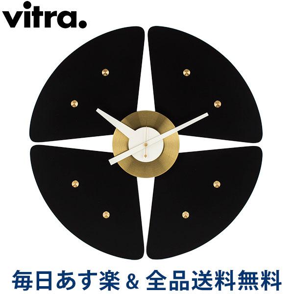 [全品送料無料] ヴィトラ Vitra 掛け時計 ウォールクロック Petal Clock (ペタルクロック) 201 260 02 ブラック/ブラス Wall Clocks デザイン インテリア おしゃれ