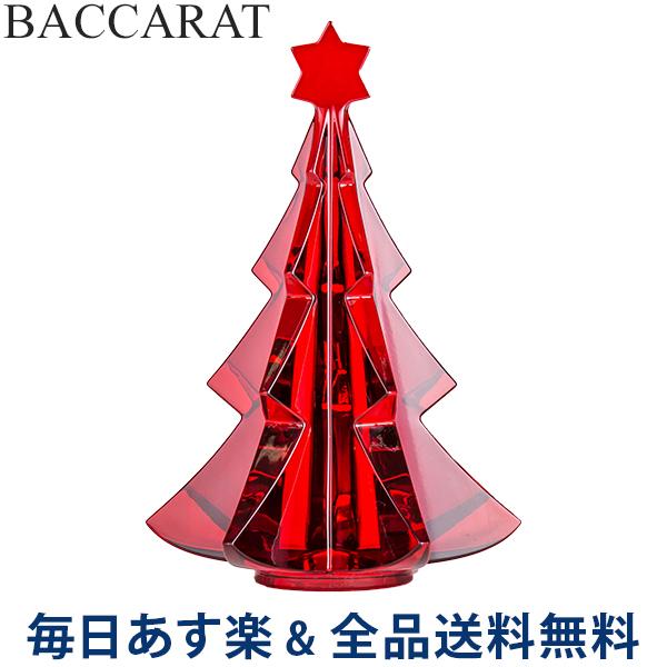 2点以上200円OFF [全品送料無料] バカラ Baccarat クリスマスオーナメント ノエル メリベル ツリー レッド 置物 インテリア 2811542 Noel Tree