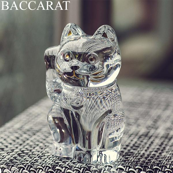 2点以上200円OFF [全品送料無料] バカラ まねき猫 置物 クリスタル ガラス クリア 2607786 Baccarat CHAT LUCKY CAT