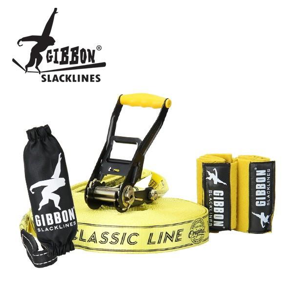 【全品3%OFFクーポン】[全品送料無料]Gibbon ギボン CLASSIC LINE X13 XL TREE PRO SET クラシックライン×13XL ツリープロセット Yellow イエロー 13843 スラックライン