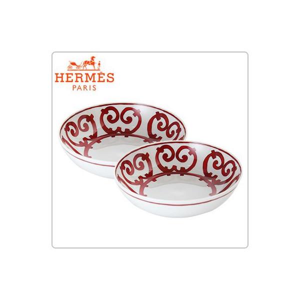 [全品送料無料]Hermes エルメス ガダルキヴィール Cereal Plate シリアルプレート 皿 17cm 011013P 2個セット 新生活