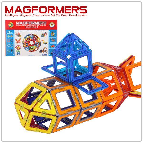 【全品3%OFFクーポン】[全品送料無料]マグフォーマー おもちゃ デラックスセット 112ピース デラックスセット チャレンジャーセット 知育玩具 キッズ 子供 面白い 63077 Magformers Deluxe Set Challenger Set 空間認識 展開図 送料無料